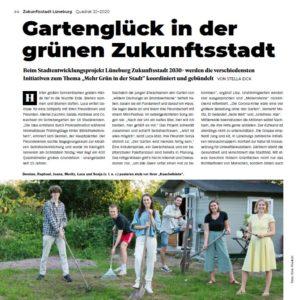 """Das Lüneburger Stadtmagazin Qadrat berichtet über das Zukunftsstadt-Experiment """"Bunt ist das neue Grün""""."""