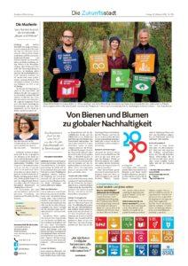 """Oktober-Ausgabe der Landeszeitung Lüneburg zum Zukunftsstadt Experiment """"Bunt ist das neue grün"""""""